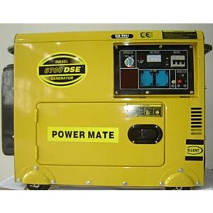 Power Mate 6700 elverk diesel 1fase 230V
