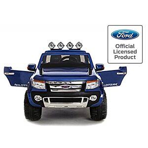Ford Ranger elektrisk bil till barn med fjärrkontroll och mp3 spelare, gummihjul, skinnsäten